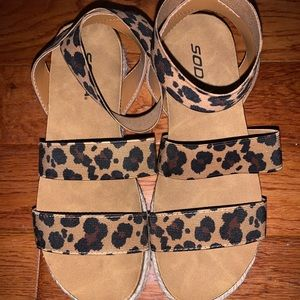 Soda Leopard print sandals